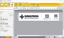 PT-Editor mit Dimatron-Schablone